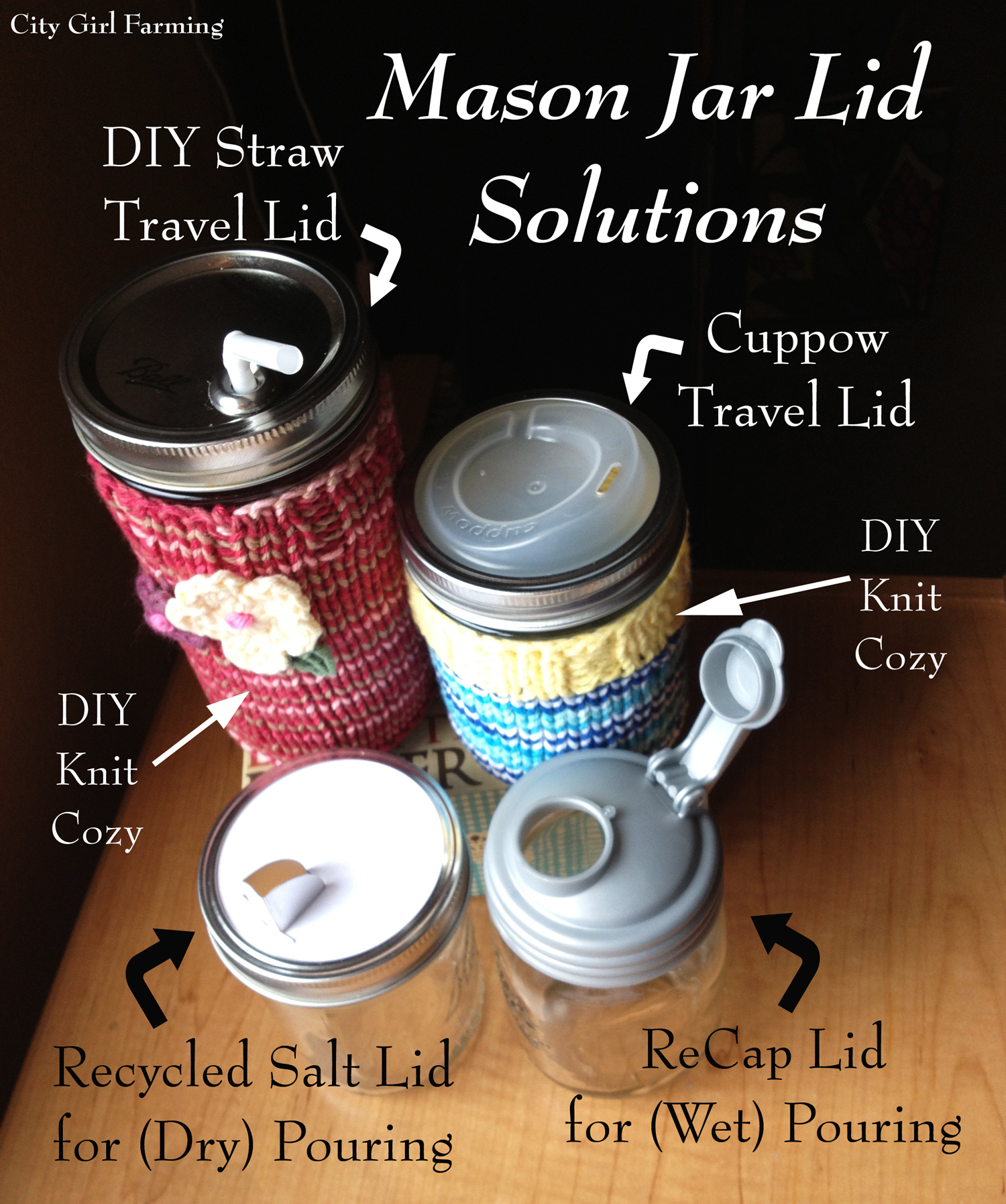 (Practical) Mason Jar Gifts (and Solutions) - CITY GIRL FARMING